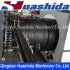 Double chaîne de production en plastique renforcée de pipe de mur par acier