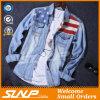 Mens-Baumwolkleidet stilvolle lange Hülsen-Umhüllung Form-Denim-Hemd