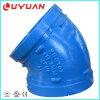 FM UL 승인 물 공급 파이프라인을%s 홈이 있는 관 연결 그리고 연성이 있는 철 팔꿈치