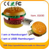 3D movimentação do flash do USB do Hamburger do PVC 8GB mini para o preço de fábrica/alta qualidade
