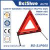 Carrinho de advertência Emergency plástico branco vermelho do triângulo da segurança da estrada