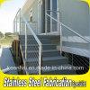 屋外の庭階段装飾的なステンレス鋼の柵