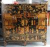 Armário pintado de madeira Lwb716 da mobília antiga