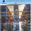 Système industriel de défilement ligne par ligne d'étage de mezzanine de support d'étagère de mémoire en métal