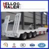 반 60 톤 세 배 차축 굴착기 수송 낮은 침대 트레일러