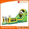 膨脹可能なサッカーの跳ね上がりの家のスライドの城(T4-011)
