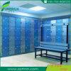 Casier bleu de profil en aluminium de coût bas pour la STATION THERMALE