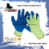 перчатка отделки Crinkle латекса ладони хлопка 10g Coated