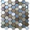 Mattonelle di mosaico di fusione sotto pressione dell'alluminio e di vetro del metallo con figura di esagono