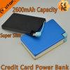 Ultra-Slim Carteira portátil Cartão de bolso Power Bank 2600mAh