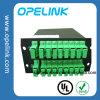 PLC van de Doos van Lgx van de Telecommunicatie van Gpon 2X16 Splitser voor Pon/FTTH/CATV