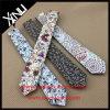 ハンドメイドの普及した花の印刷された細い綿のタイ