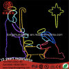Le ce RoHS 1.2m Jésus de DEL est la lumière de corde de motif de raison pour la décoration de Chrsitmas