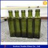 botella de cristal marrón clara del aceite de oliva de 500ml Marasca con el casquillo de aluminio