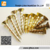 Parafusos de madeira chapeados zinco do Drywall do amarelo do aço de carbono DIN18182