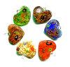 Ouro-Poeira dentro dos pendentes de vidro da forma do coração (PENH0019)