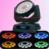 lumière principale mobile de zoom de lavage de 24PCS 12W RGBW 4in1 DEL
