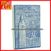 Cahier gravant en refief d'agenda d'unité centrale de Tour Eiffel de couleur de Bule&Red