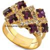 De Ring van de Juwelen van de Bloem van het Roestvrij staal van de manier 316L (AR61)