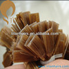 高品質5A Gradeライト茶色14inchブラジルのFlat TIP Hair Extension