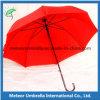 빨간색 PU에 의하여 입히는 손잡이 똑바로 자동적인 열려있는 결혼식 춤 우산