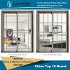 Plegamiento de aluminio del vidrio de la doble vidriera de la alta calidad/puerta Bifold/puerta de Bifolding