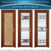 Porte en aluminium/en aluminium de salle de bains/tissu pour rideaux avec le double vitrage