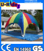 Tenda gonfiabile del ragno di colore del Rainbow dei 6 lati