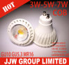 Éclairages LED de GU10 DEL 3W 5W 7W Dimmable Spotlight COB