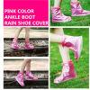 Color dentellare Ankle Rain Shoe Cover con Zipper