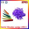 Material dental descartável da cunha de madeira dental do espaço