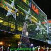 Luz decorativa iluminada luz do ornamento da estrela da estrela do Natal do diâmetro 1m
