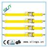 黄色いラチェットはアルミニウムハンドルが付いているストラップを結ぶ
