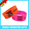 Kundenspezifisches Qr Code Silicone Wristband mit Screen Printed (TH-08552)