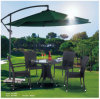 屋外のFurniture Kd TableのテラスのPE Rattan Dining TableおよびChairおよびUmbrella Set