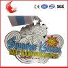 Fuentes calientes de la medalla de la cinta del cuello del metal de la aleación del cinc de la venta