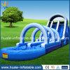 Alta calidad de tobogán inflable gigante con piscina para la venta