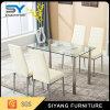 Moderne chinesische Hauptglas/metallesszimmer-Möbel