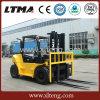 Forklift da manipulação material 5 toneladas caminhão de Forklift do motor Diesel de 7 toneladas
