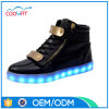 Chaussures occasionnelles élevées du dessus DEL de modèle assez frais
