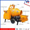 Pompe concrète hydraulique de Tralier avec le mélangeur Jbt40-P de tambour