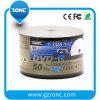 16X velocidad / 4,7 GB / 120min disco de medios de impresión DVD-50pk