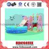 بيئيّة داخليّ بلاستيكيّة أطفال منزلق وأرجوحة مع كرة حفرة