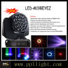 19PCS 15W DEL B-Eyes Moving Head Beam Light avec Zoom