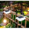 Luz solar de la pared de la cerca al aire libre impermeable LED del jardín de 4 LED