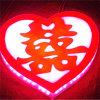 Nuevo rectángulo ligero Wedding iluminado LED de la muestra del brillo de Mordern