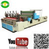Auto rolo de alta velocidade do tecido de toalha da impressão de cor que faz a máquina