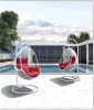 Rattan poco costoso Swing Chair con Soft Cushion
