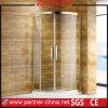 Cerco Rollaway do chuveiro do setor da porta de vidro de deslizamento dois (PT2142)