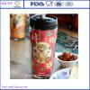 Mok van de Kop van de Reis van Starbucks van de Koppen van de Koffie van de Muur van het voedsel de Veilige Bulk Dubbele Plastic met het Tussenvoegsel van het Deksel en van de Foto